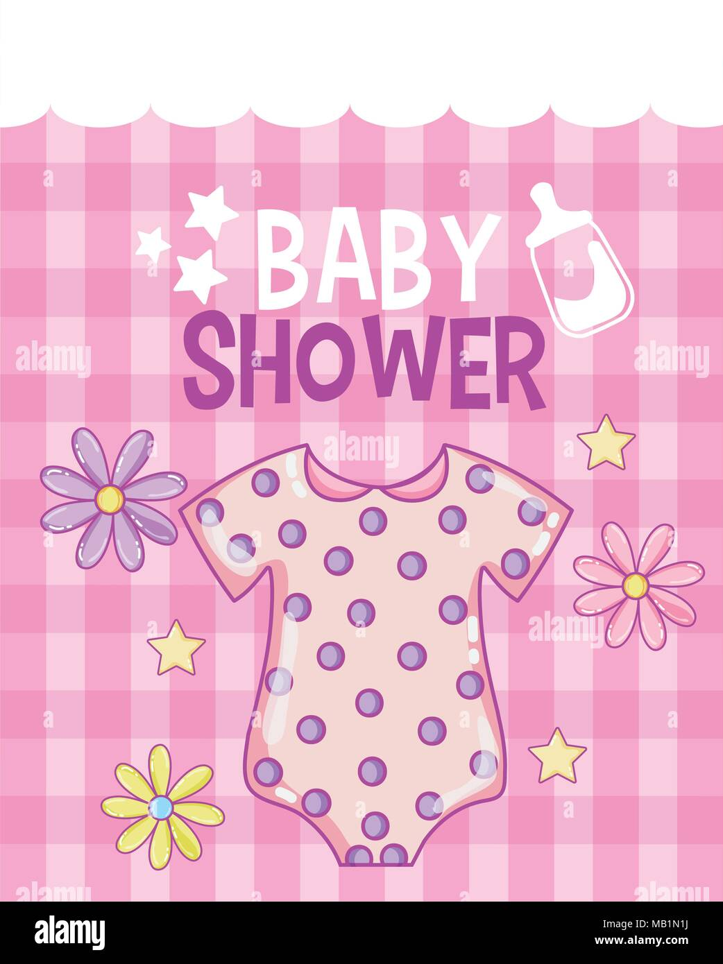 Baby shower card - Stock Image