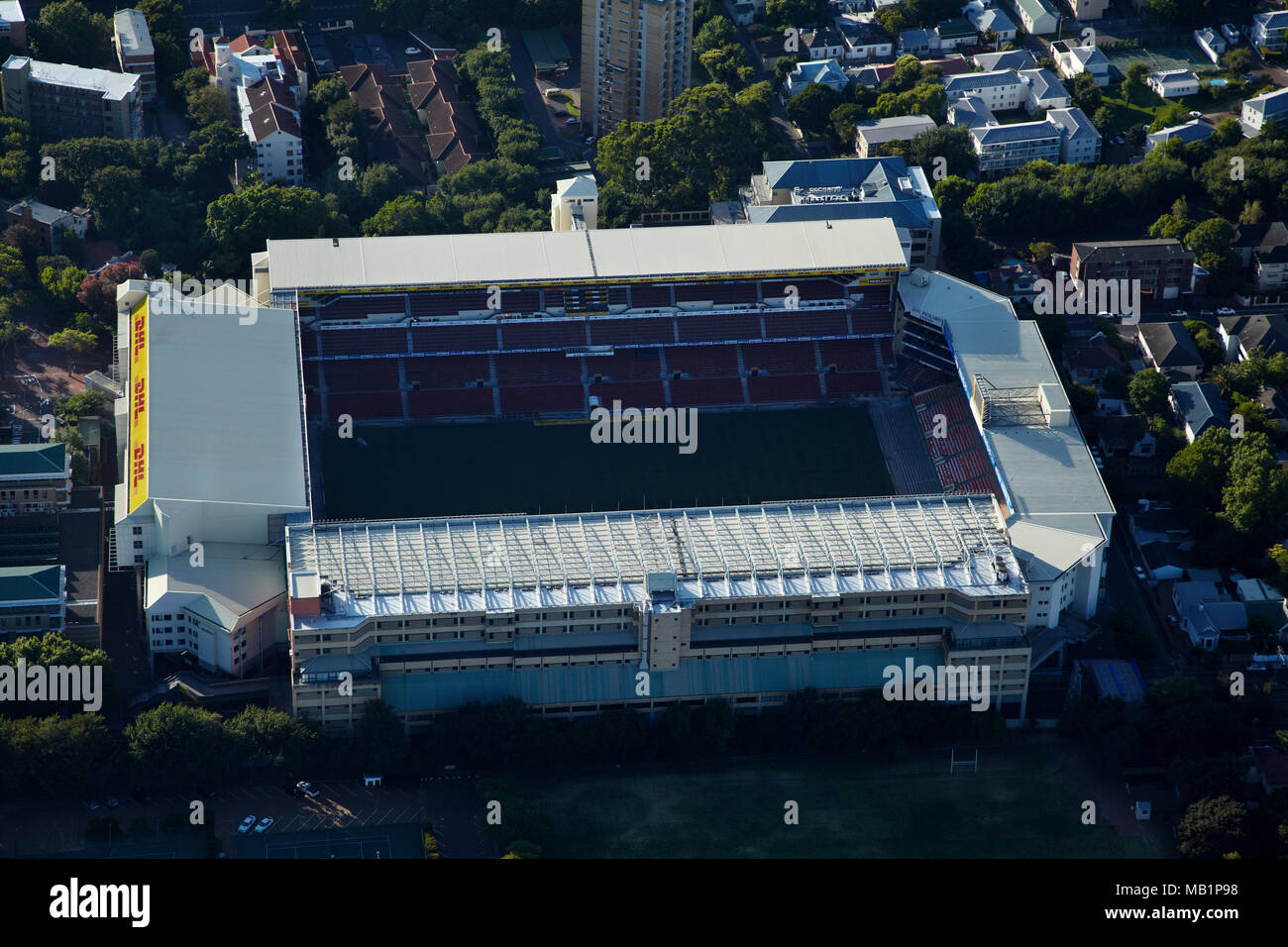 Newlands Stadium, Cape Town, South Africa - aerial - Stock Image