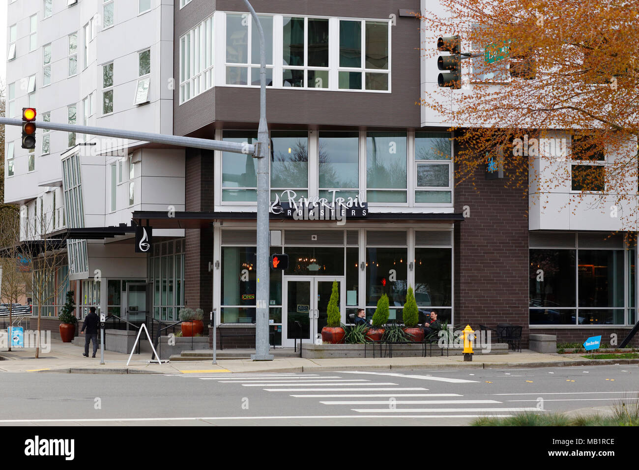 River Trail Roasters, 8397 158th Ave NE, Redmond, WA - Stock Image