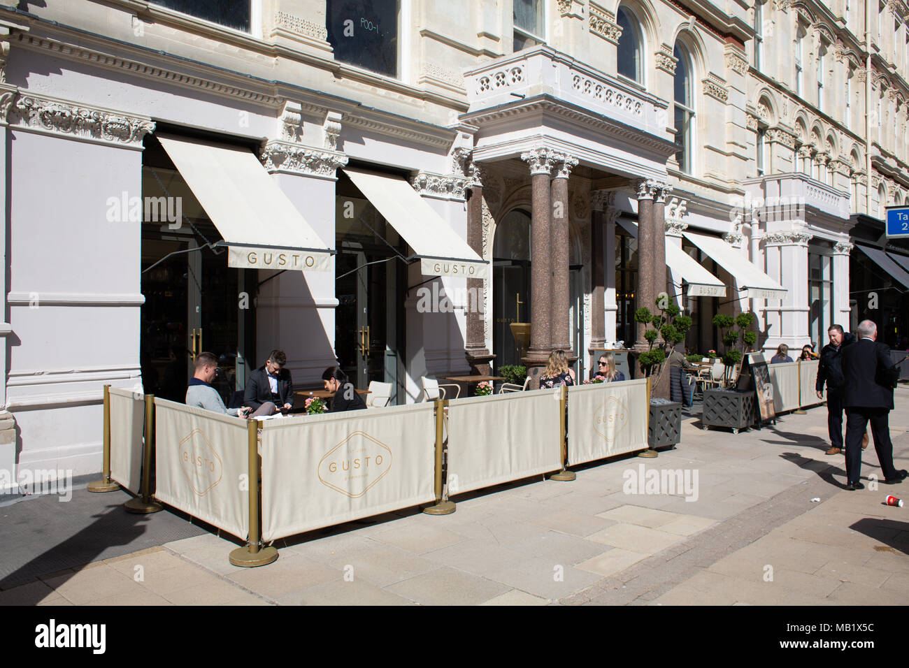 The Gusto bar, situated in the Grand Hotel building, Colmore Row, Birmingham City Centre, UK - Stock Image