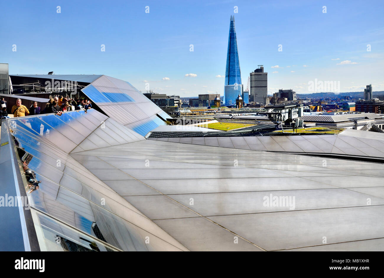 London, England, UK. View of The Shard from the roof of One New Change, near St Paul's Cathedral - Stock Image