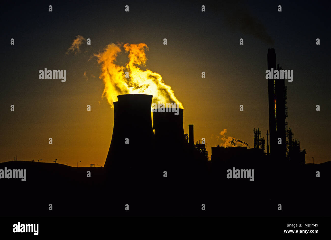 BP Plant, Port Talbort  Gwent, South Wales, Wales, UK, GB. - Stock Image