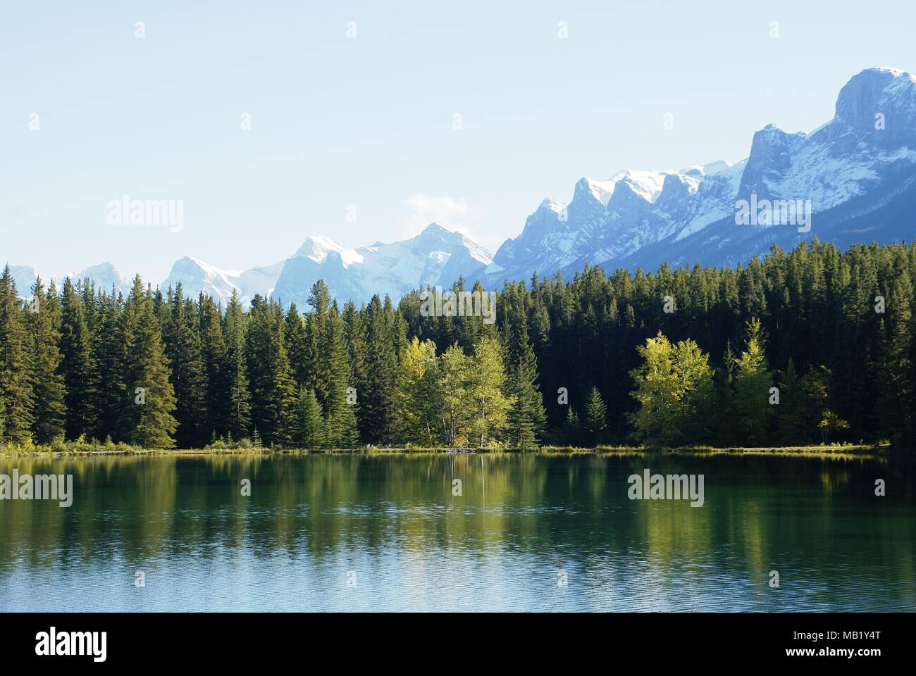 landscapes taken during holidays in Canada national parks Stock Photo