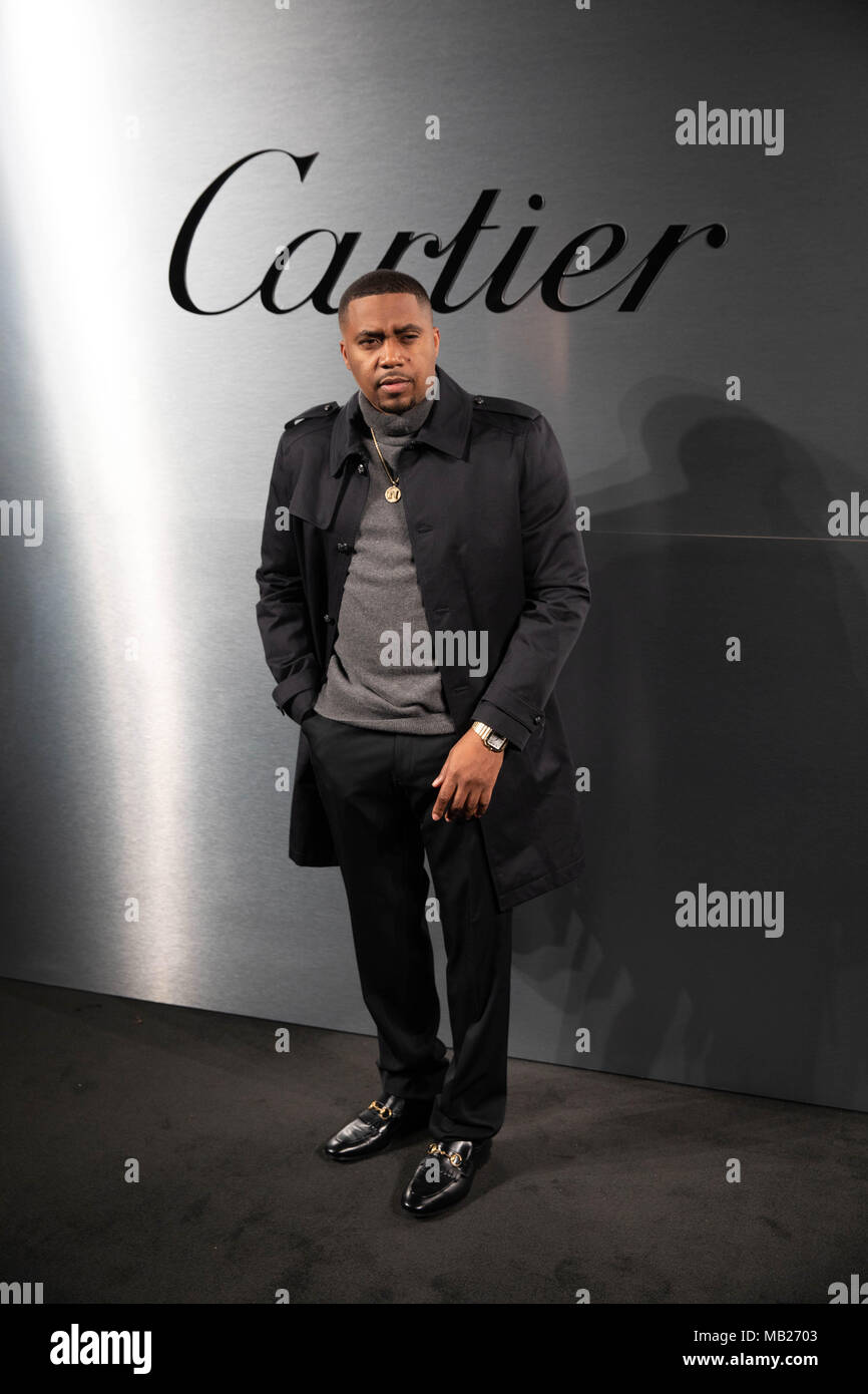 San Francisco, California, USA. 5th Apr, 2018. Musician NAS arrives on the red carpet for the Santos de Cartier Watch Launch at Pier 48 on April 5, 2018 in San Francisco, California Credit: Greg Chow/ZUMA Wire/Alamy Live News - Stock Image