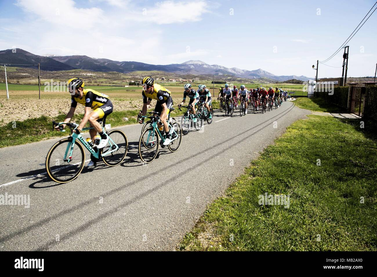 41ecd84f4 Riders in action during the fifth stage of the Basque Country Cycling Tour  race