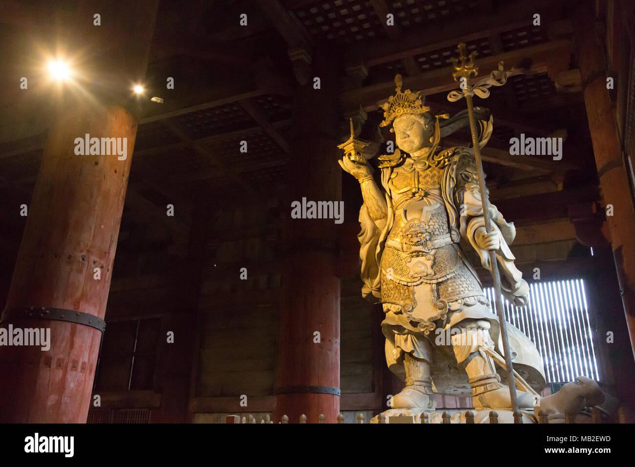 Buddha statue in Todaiji Stock Photo