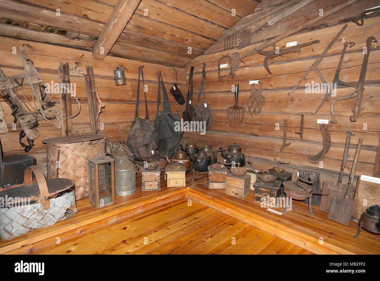 Martingarden Museum, Overkalix, Norrbotten County, Sweden - Stock Image