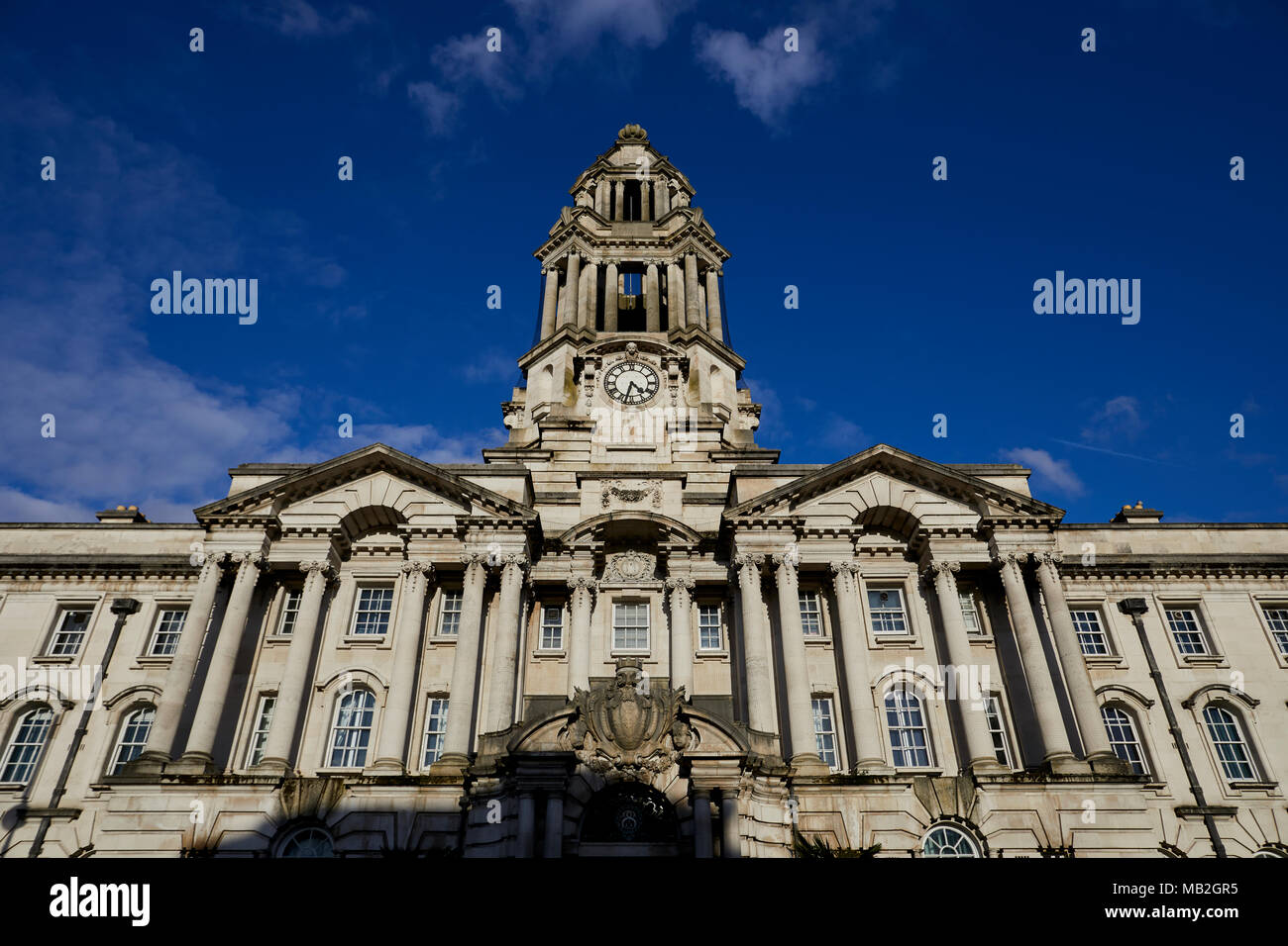 Stockport Council Landmark Grade II* listed Town Hall in Greater Manchester  architect Sir Alfred Brumwell Thomas nicknamed 'the wedding cake' - Stock Image