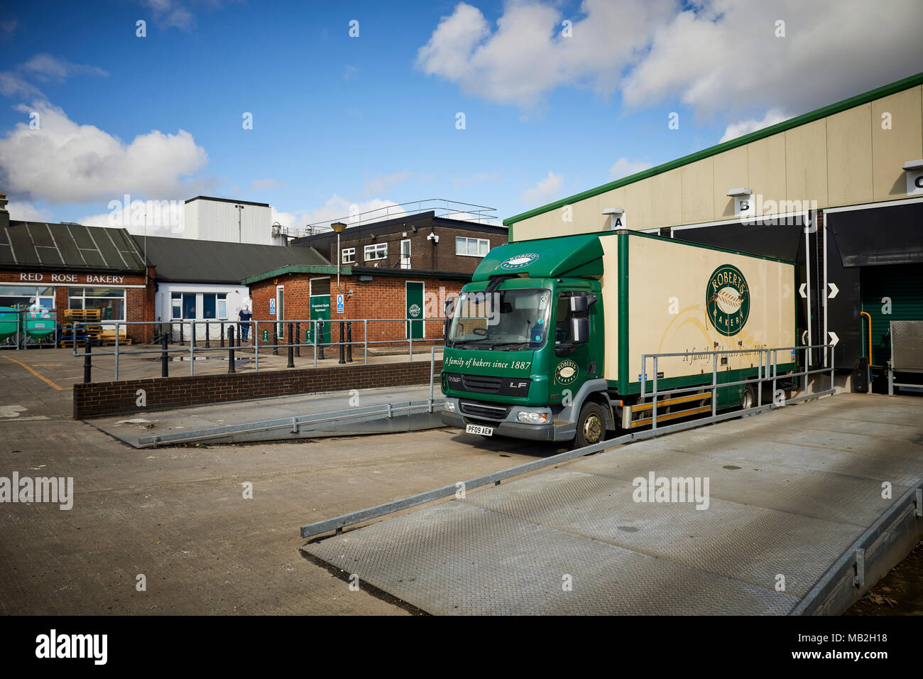 Family run bread makers factory Roberts Bakery Rudheath, Northwich in Cheshire Stock Photo