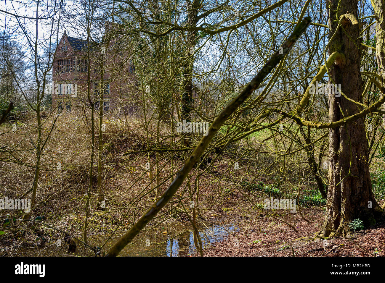Spooky picture of Bewsey Old Hall Warrington. - Stock Image