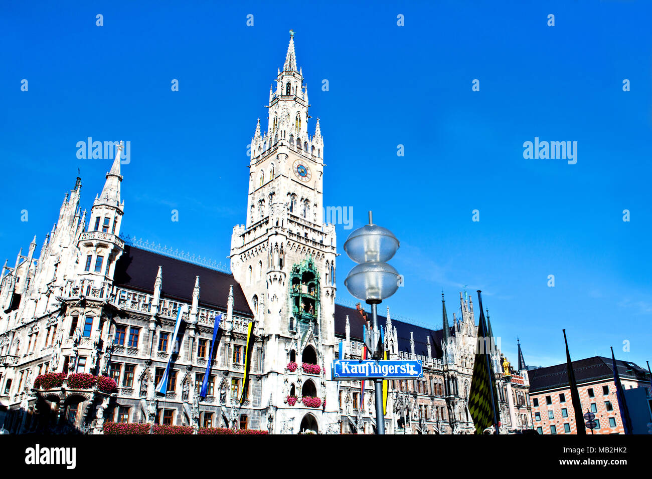 Town Hall on Marienplatz square in Munich, Germany - Stock Image