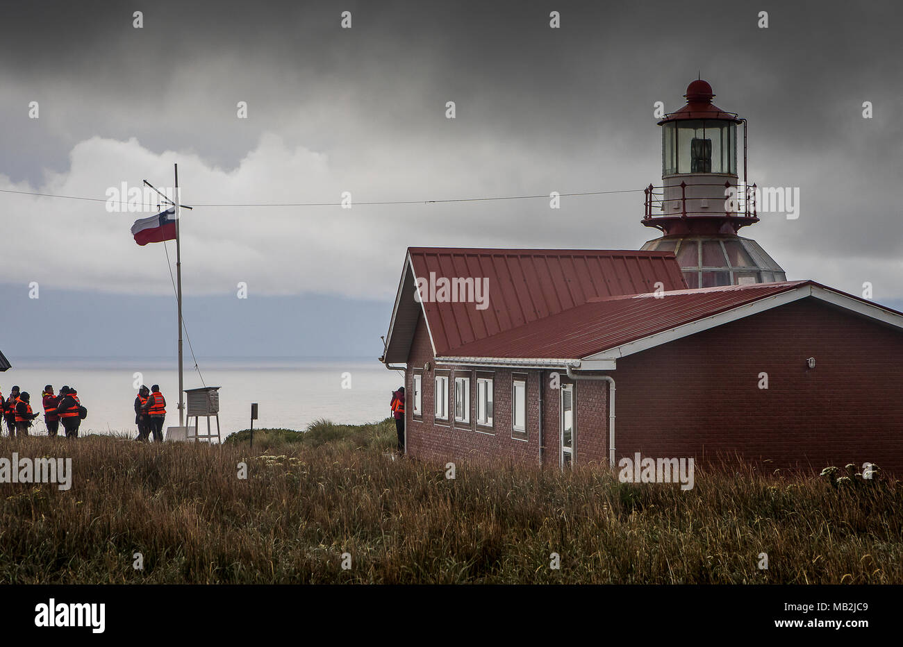 Lighthouse, Cape Horn, Tierra de Fuego, Patagonia, Chile - Stock Image