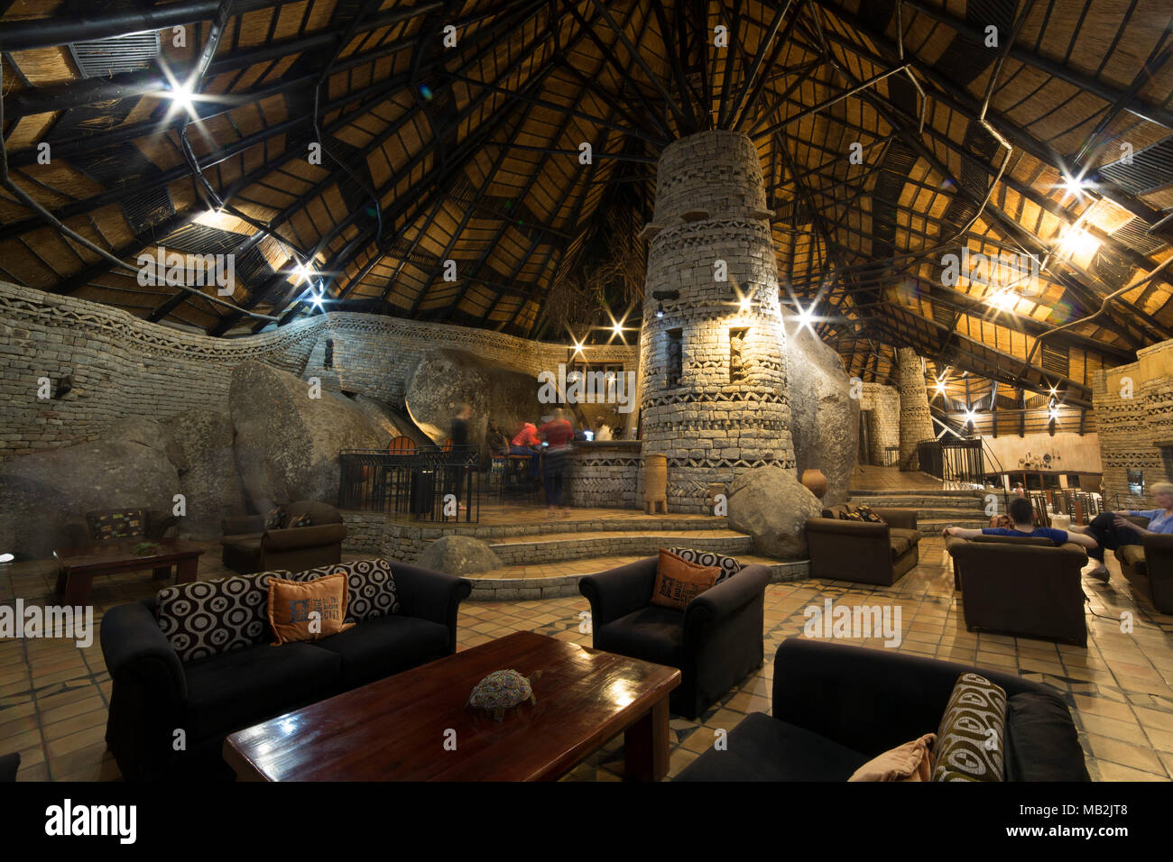 Bar In The Communal Dining Room At Lodge Ancient City Near Masvingo