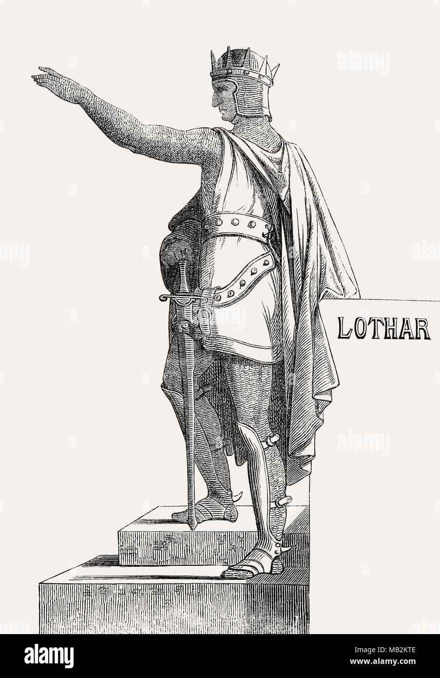 Lothair I or Lothar I, 795 –855, Holy Roman Emperor - Stock Image