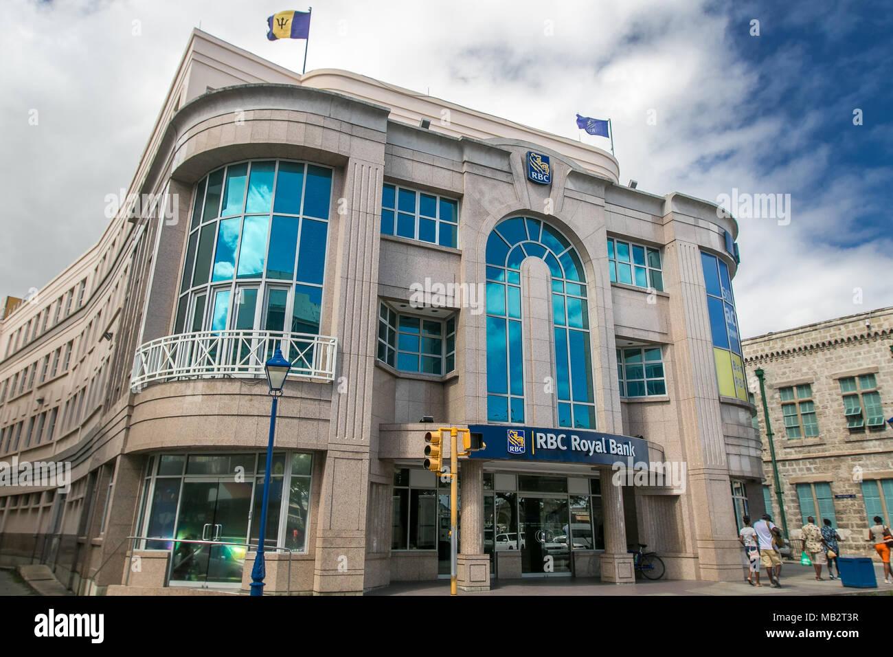 RBC Royal Bank branch in Bridgetown, Barbados Stock Photo
