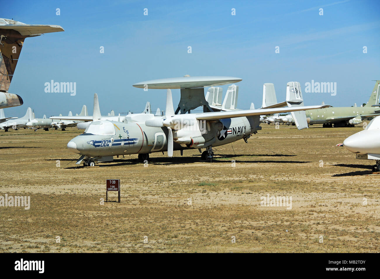 T-39G Sabreliner Jet in Pima Air and Space Museum - Stock Image