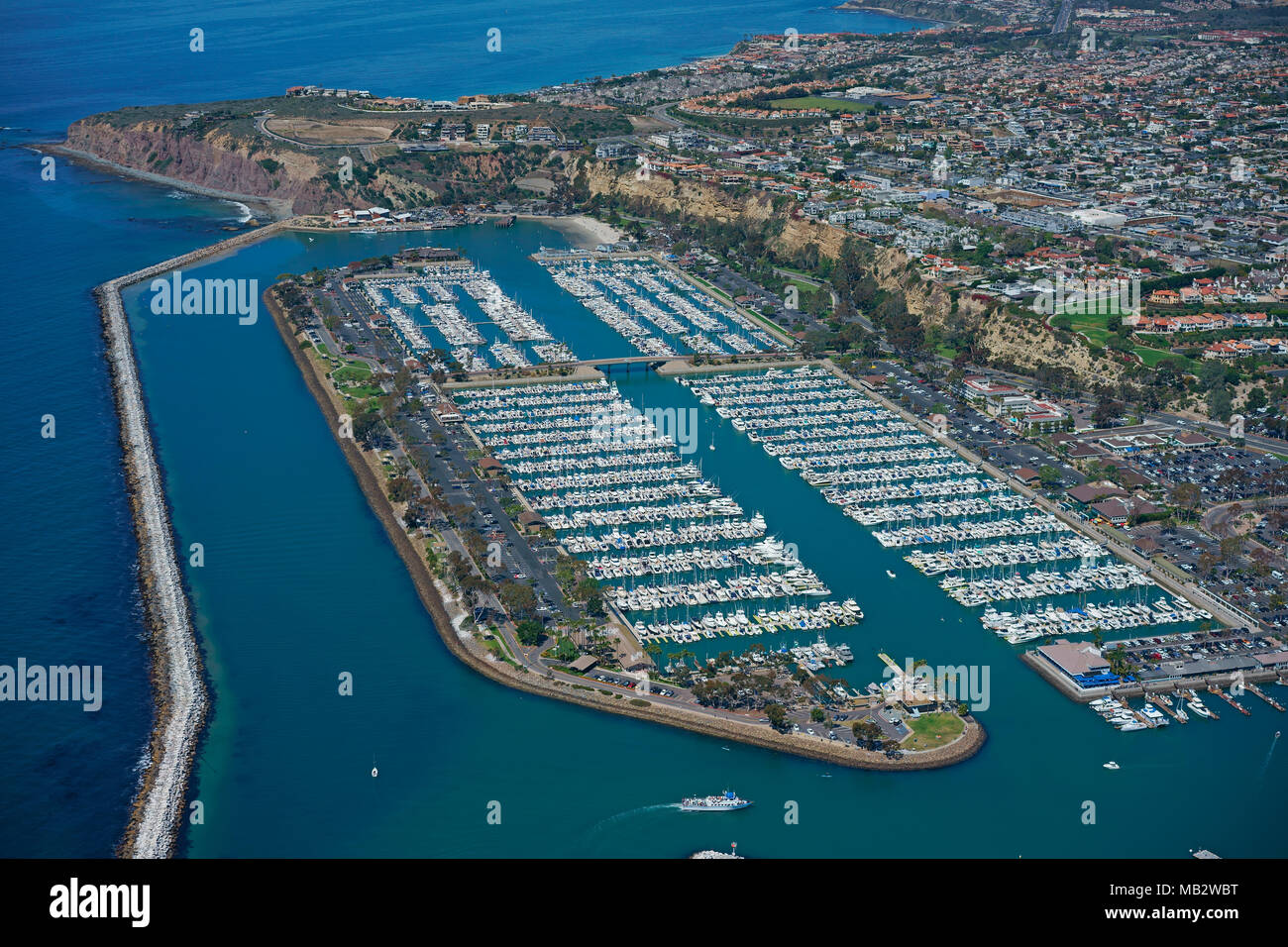 MARINA OF DANA POINT (aerial view). Orange County, California, USA. - Stock Image