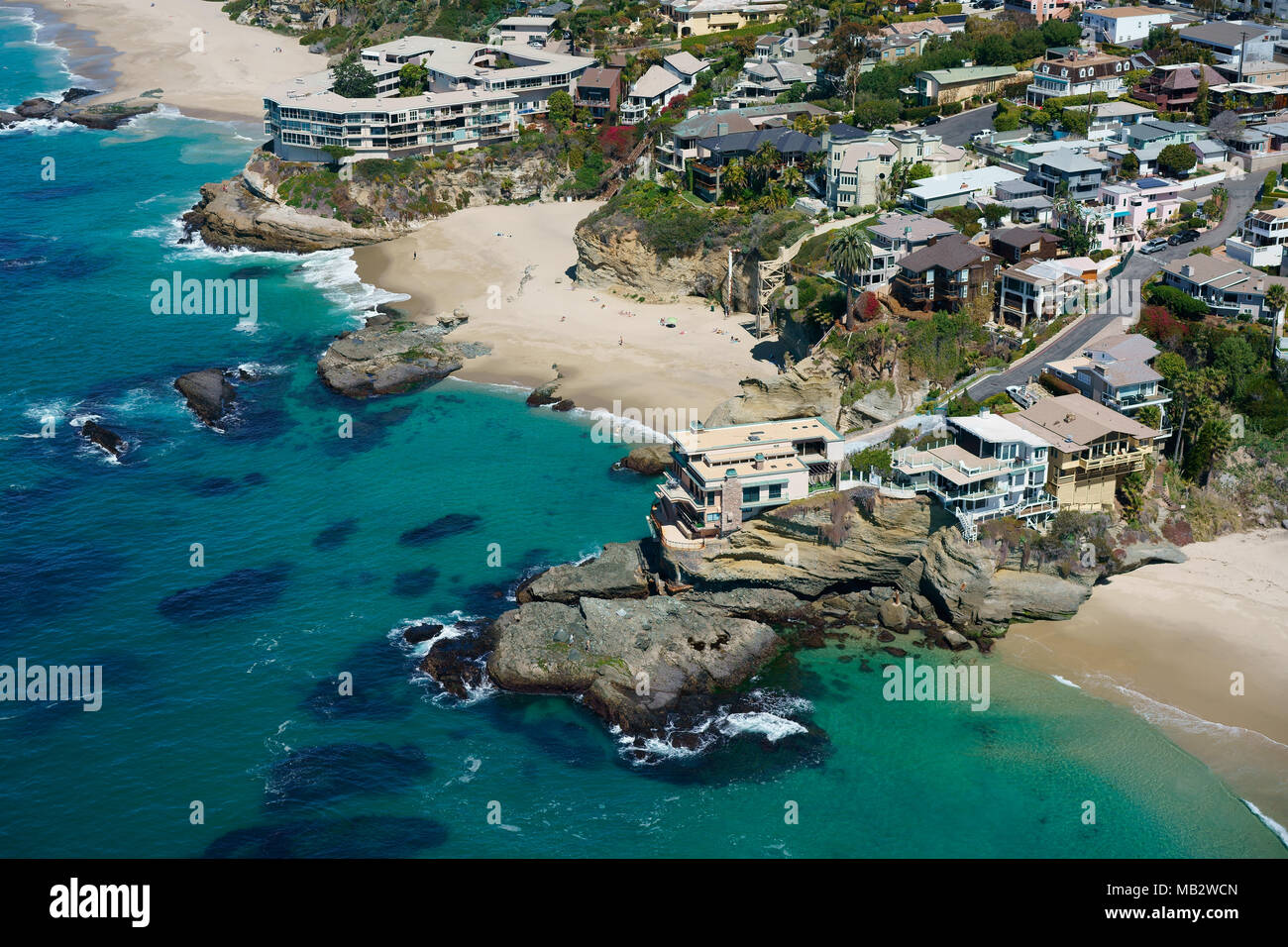 cliff dwellings around table rock beach aerial view laguna beach rh alamy com table rock beach laguna directions table rock beach laguna