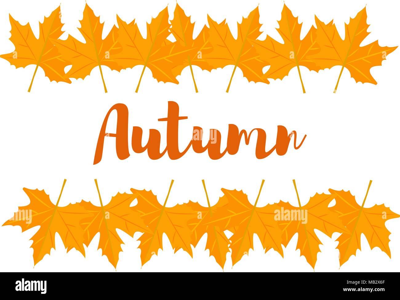 Autumn Leaves Letterhead Template Stock Photos & Autumn Leaves ...