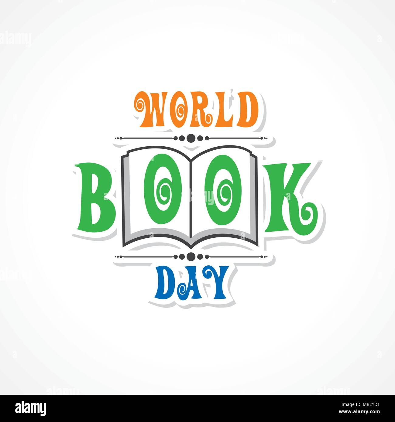 Vector Illustration of World Book Day - Education Concept - Stock Vector