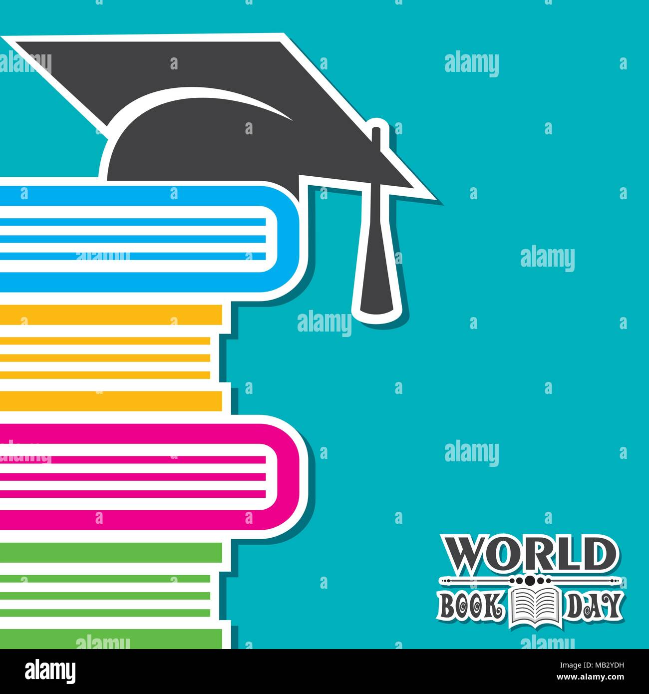 Vector Illustration of World Book Day - Education Concept Stock Vector