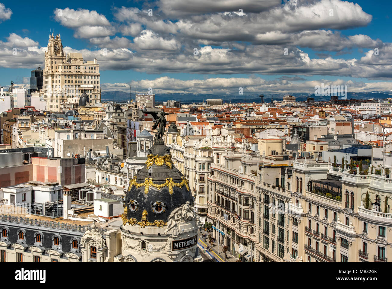 City Skyline Madrid Community Of Madrid Spain Stock Photo Alamy