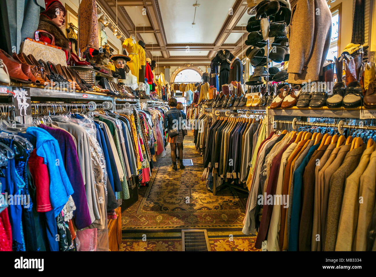 Decades of fashion shop. Haight-Ashbury district. The neighborhood is known for being the origin of hippie counter culture. San Francisco. California, - Stock Image