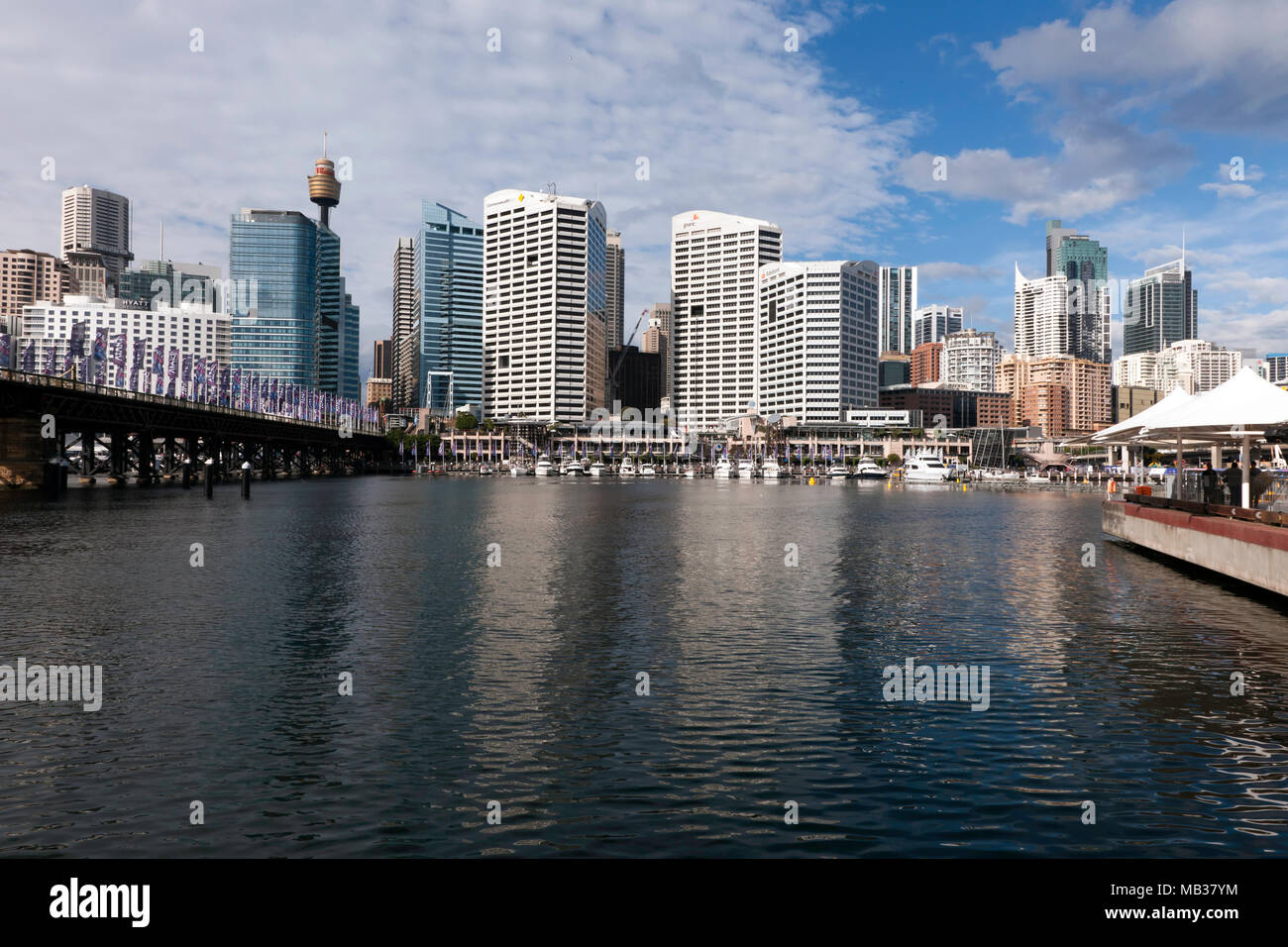 View of Darling Harbour,  Sydney, New South Wales, Australia - Stock Image