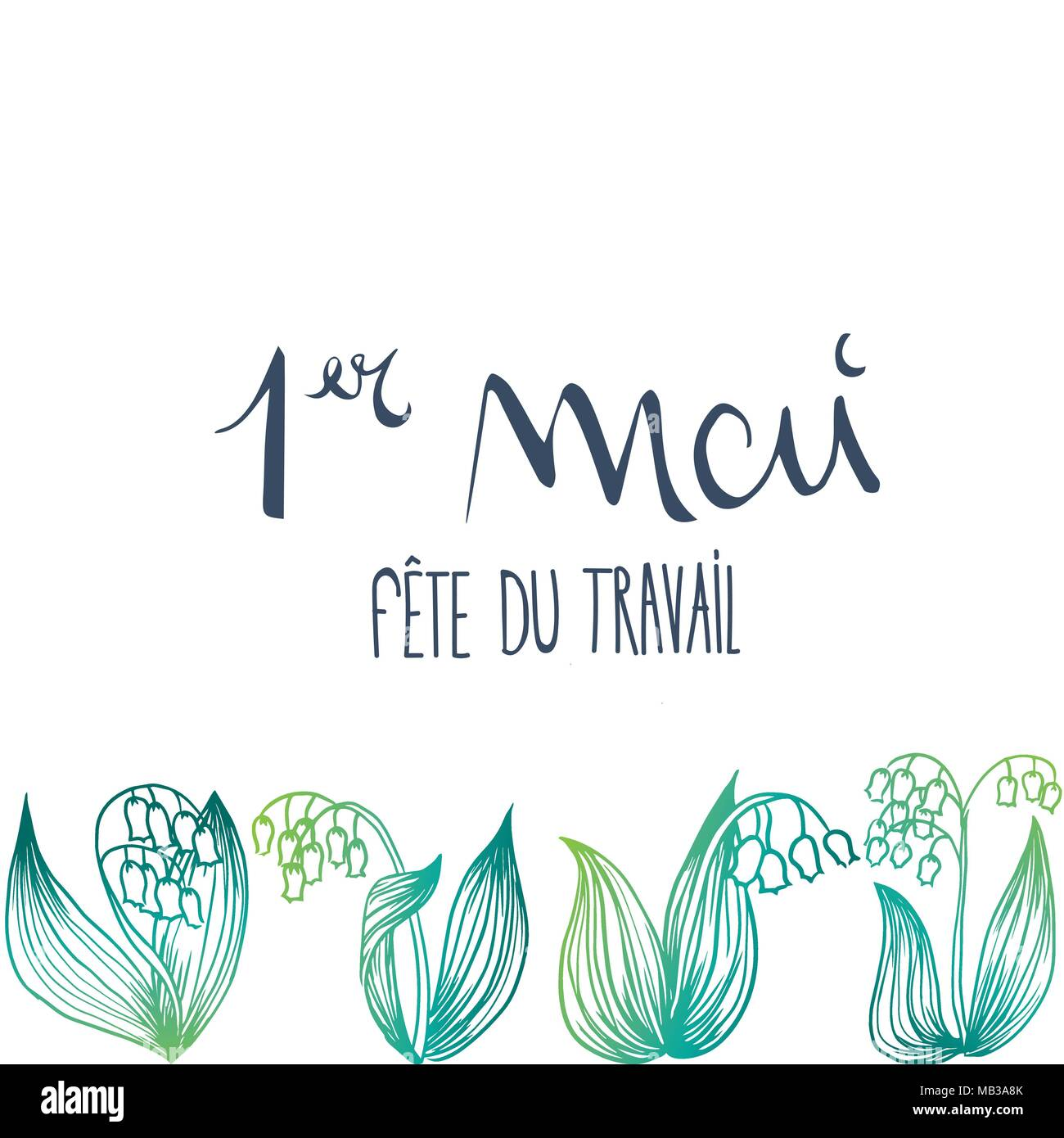 French 1st may thrush flower vector illustration - Stock Vector