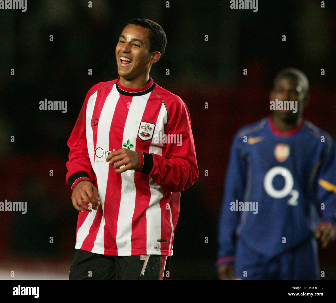 Theo Walcott Playing In The Southampton Youth Team Against Arsenal Stock Photo Alamy