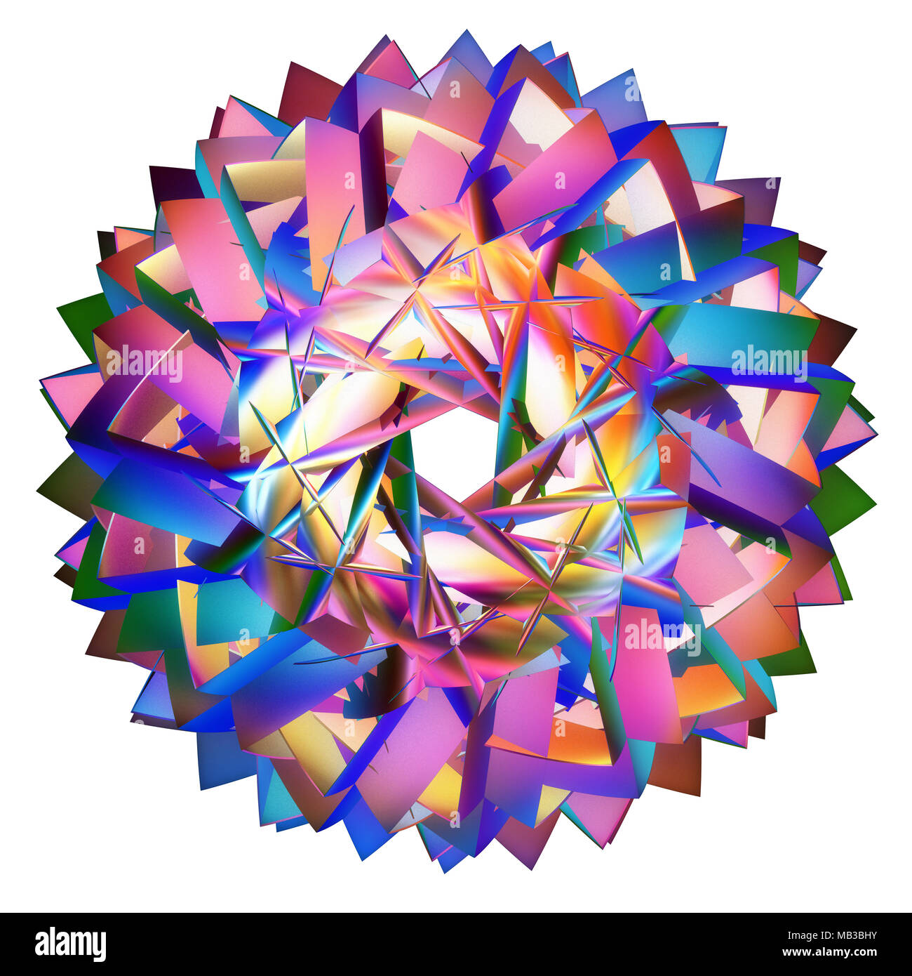 colored hyperbolic tessellation computer generated - Stock Image