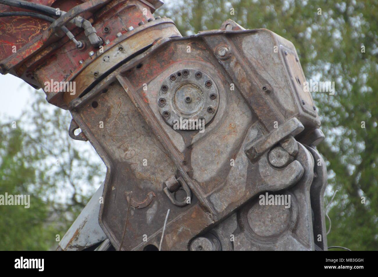 Close Up Of A Grab Crane - Stock Image