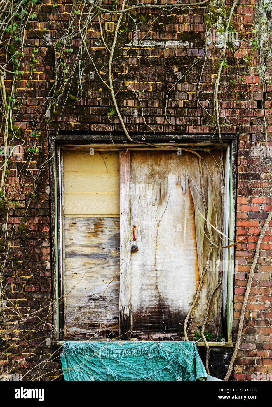 Whatever lies beyond this door is left up to the imagination. - Stock Image