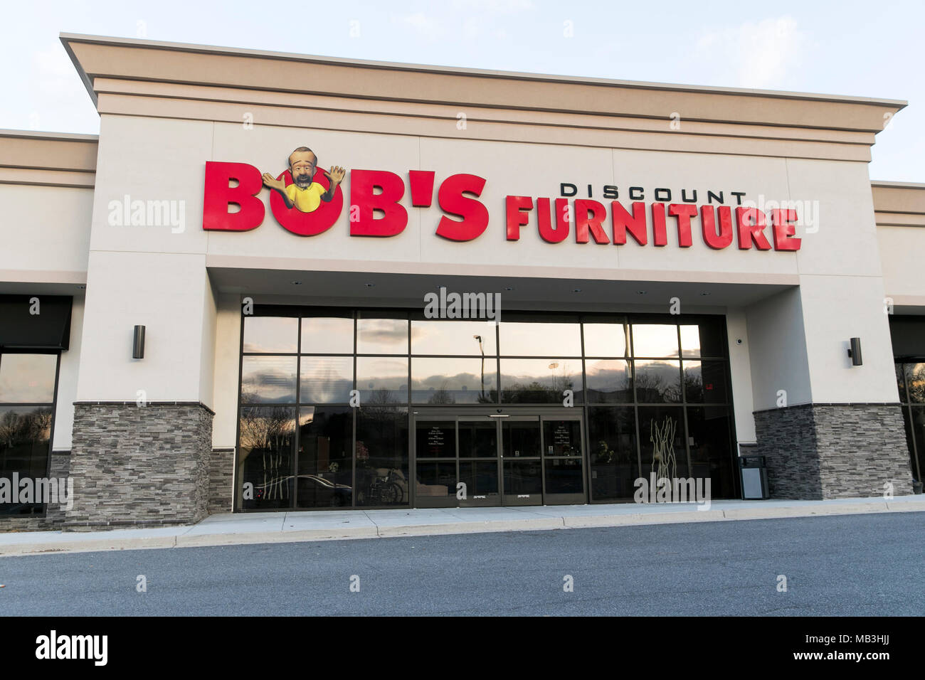 A Bob S Discount Furniture Logo Seen On A Retail Store Front In