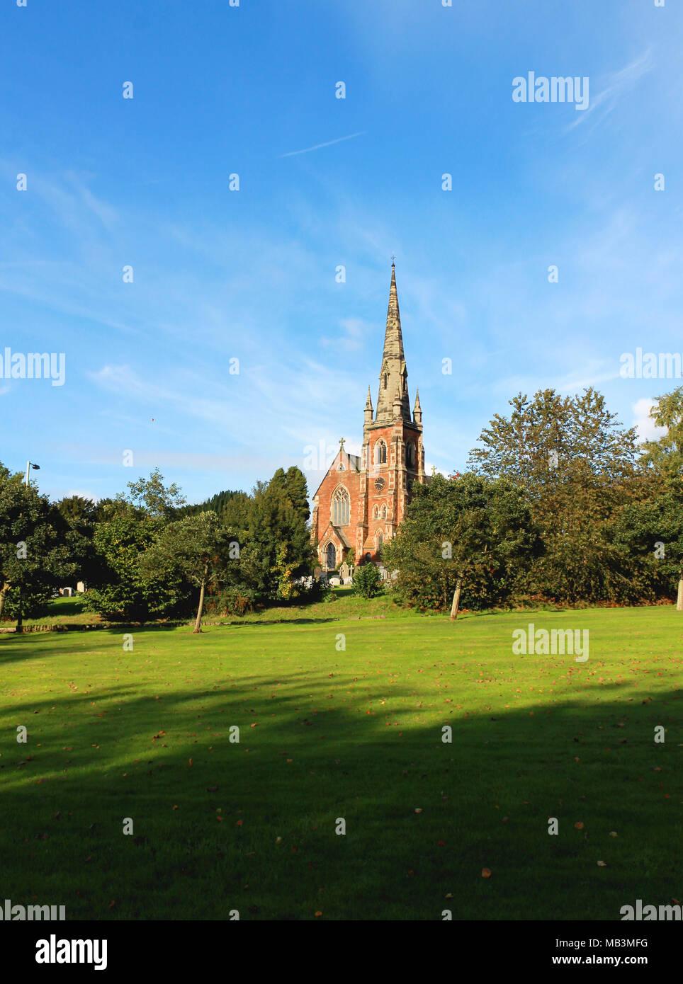 Church of Keele Village, Staffordshire UK - Stock Image