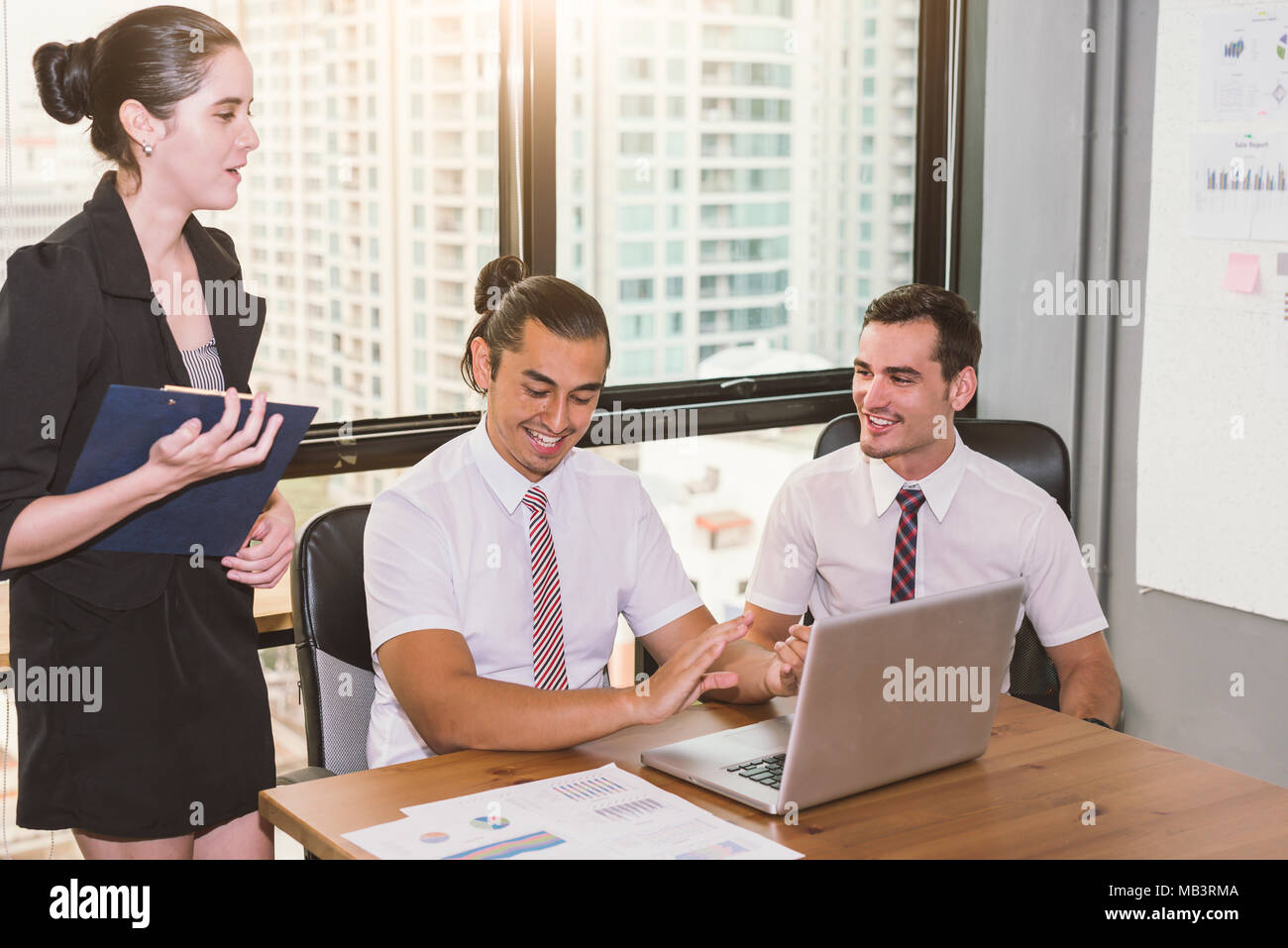 Group Of Business People Happy Creative Team Talking In Modern