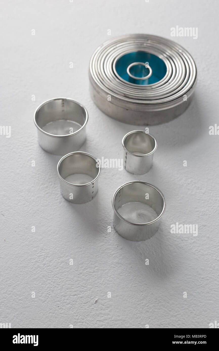 Metal  Biscuit Cutters - Stock Image