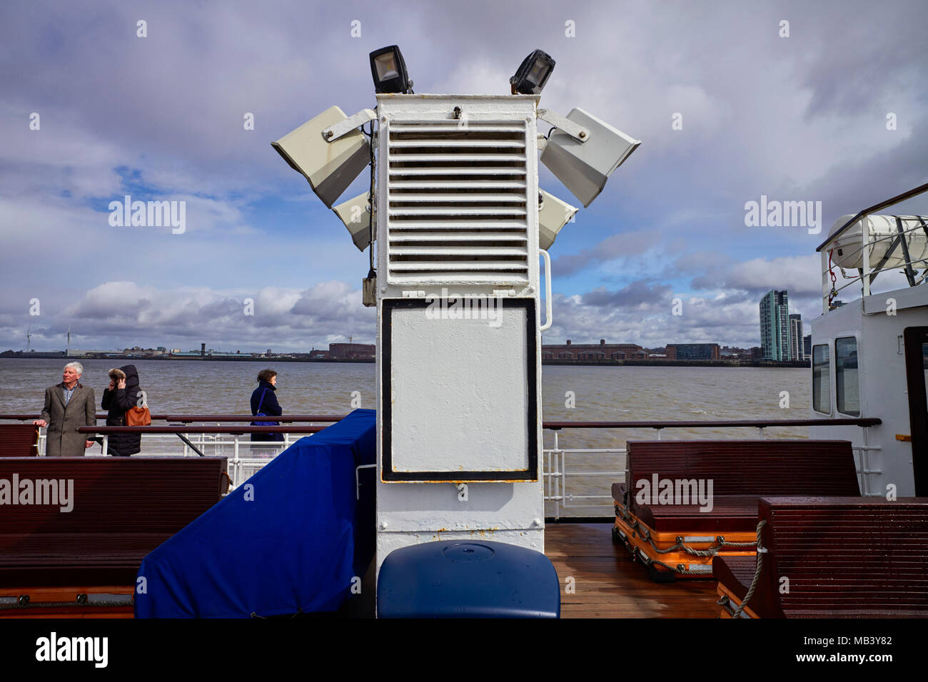 Ventilator at the aft deck on the Royal Iris Mersey Ferry - Stock Image