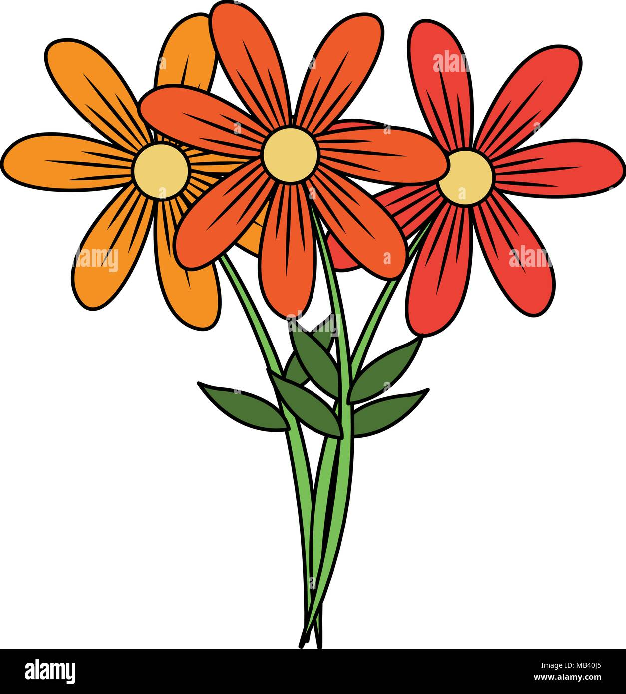 Beautiful flowers cartoon Stock Vector Art \u0026 Illustration