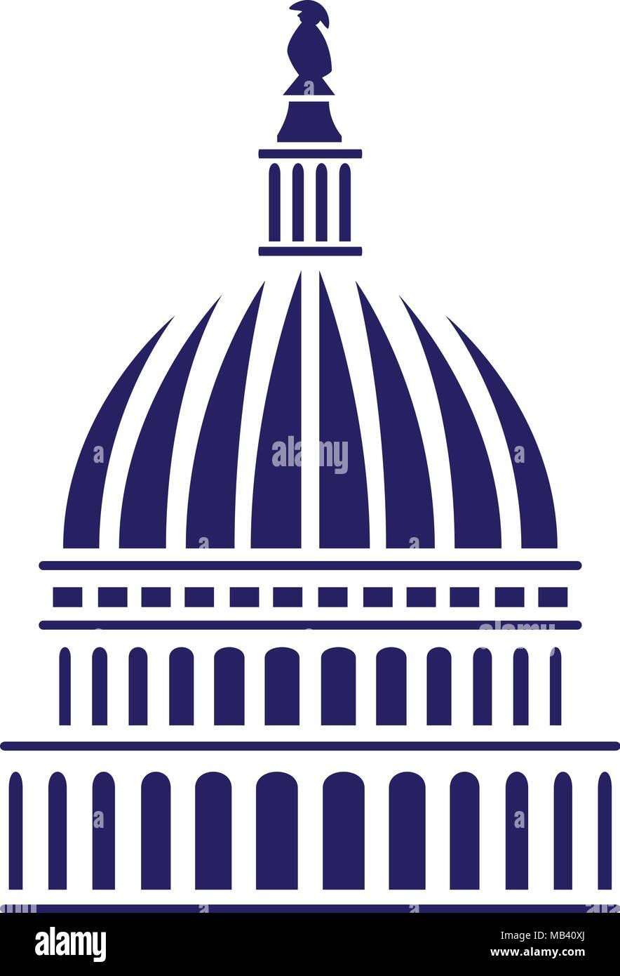 U.S. Capitol Dome Vector Illustration - Stock Vector