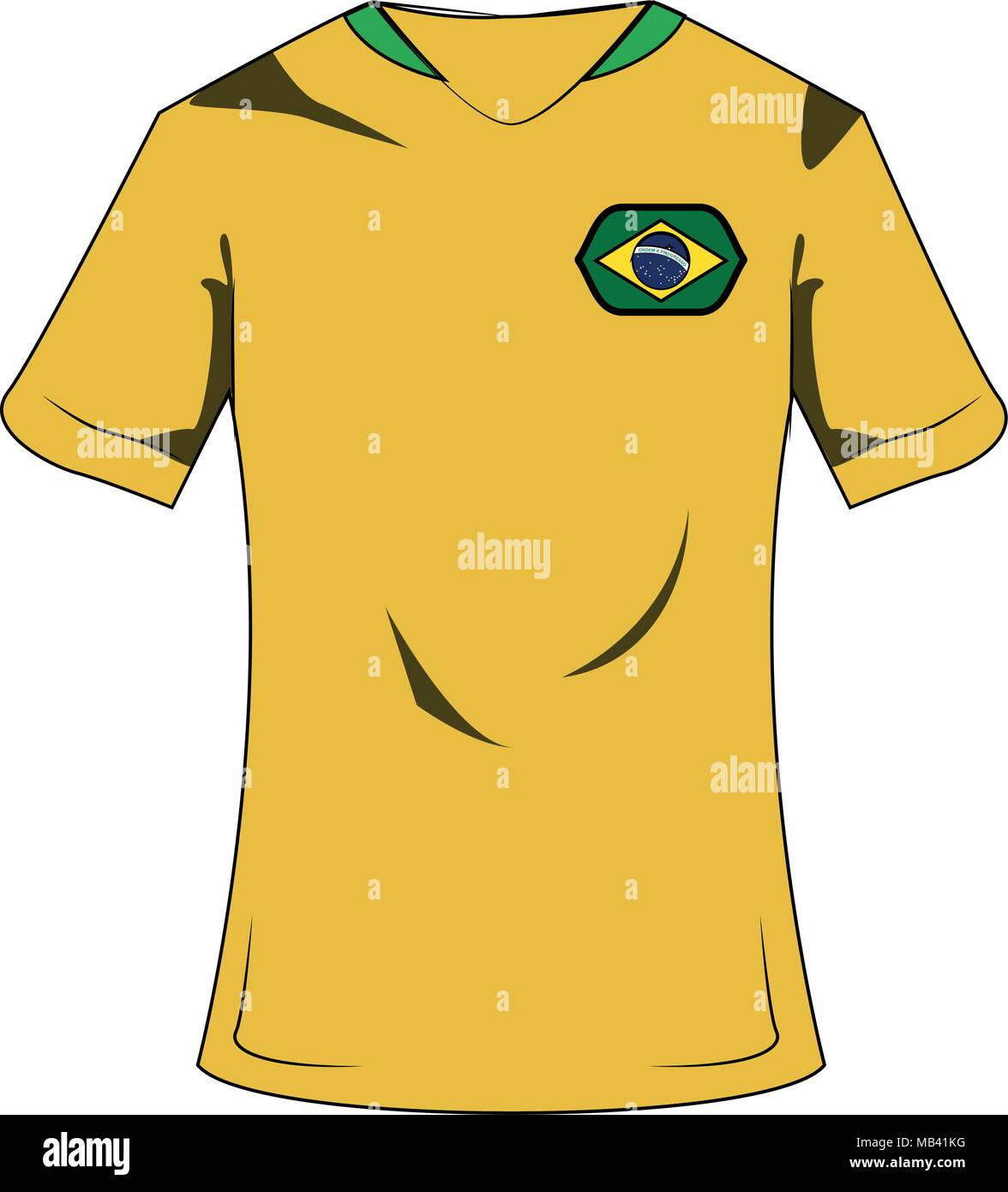 b86dcc7bcef Brazil soccer sport wear Stock Vector Art   Illustration