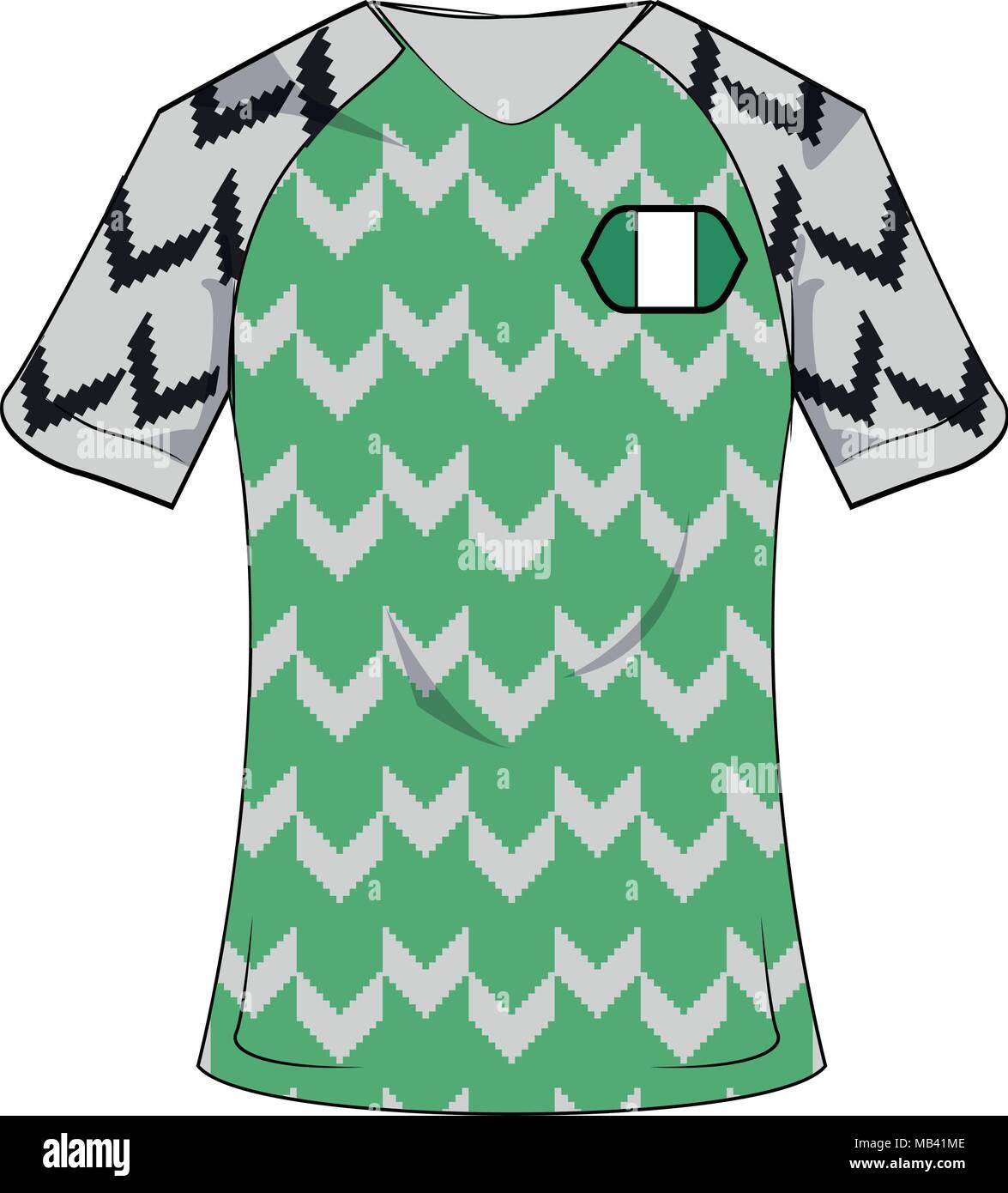 promo code e8deb 2cd9d Nigeria soccer sport wear Stock Vector Art & Illustration ...