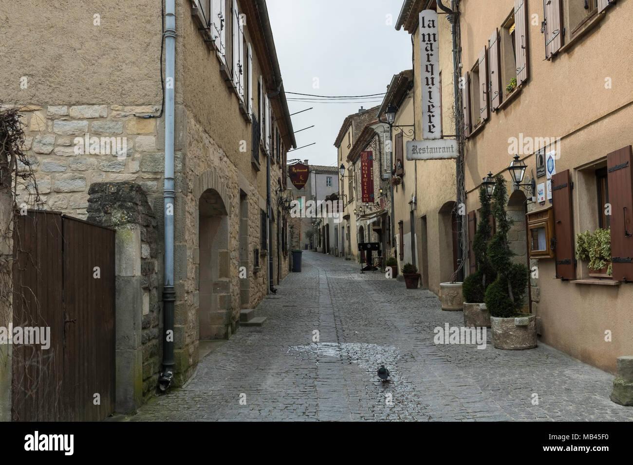 Carcassonne France Medieval Street Stock Photos Carcassonne France