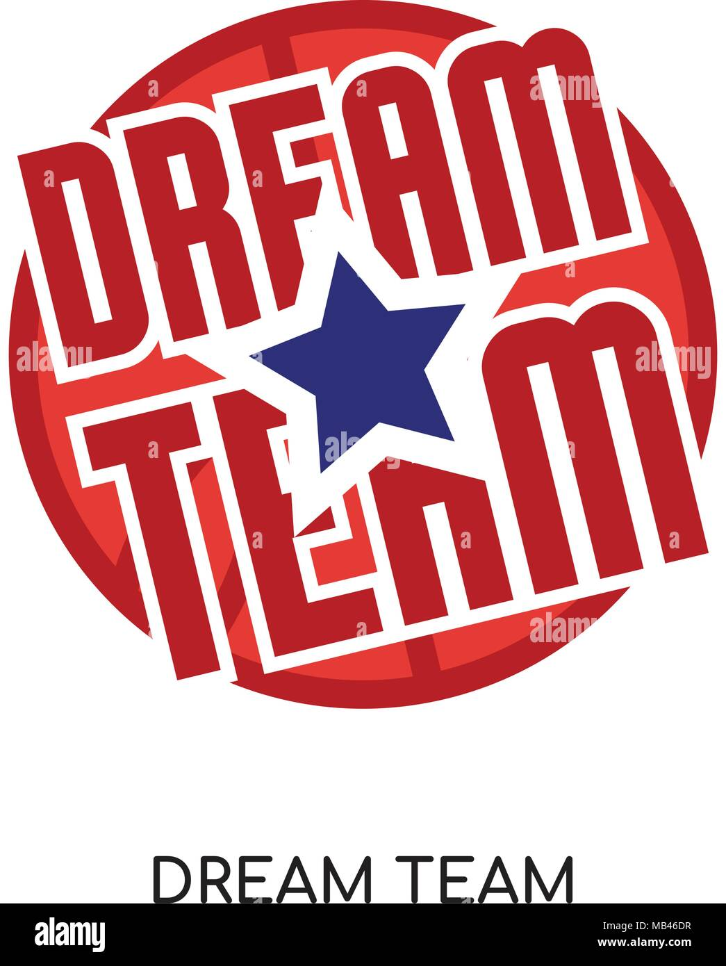 dream team logo isolated on wh...