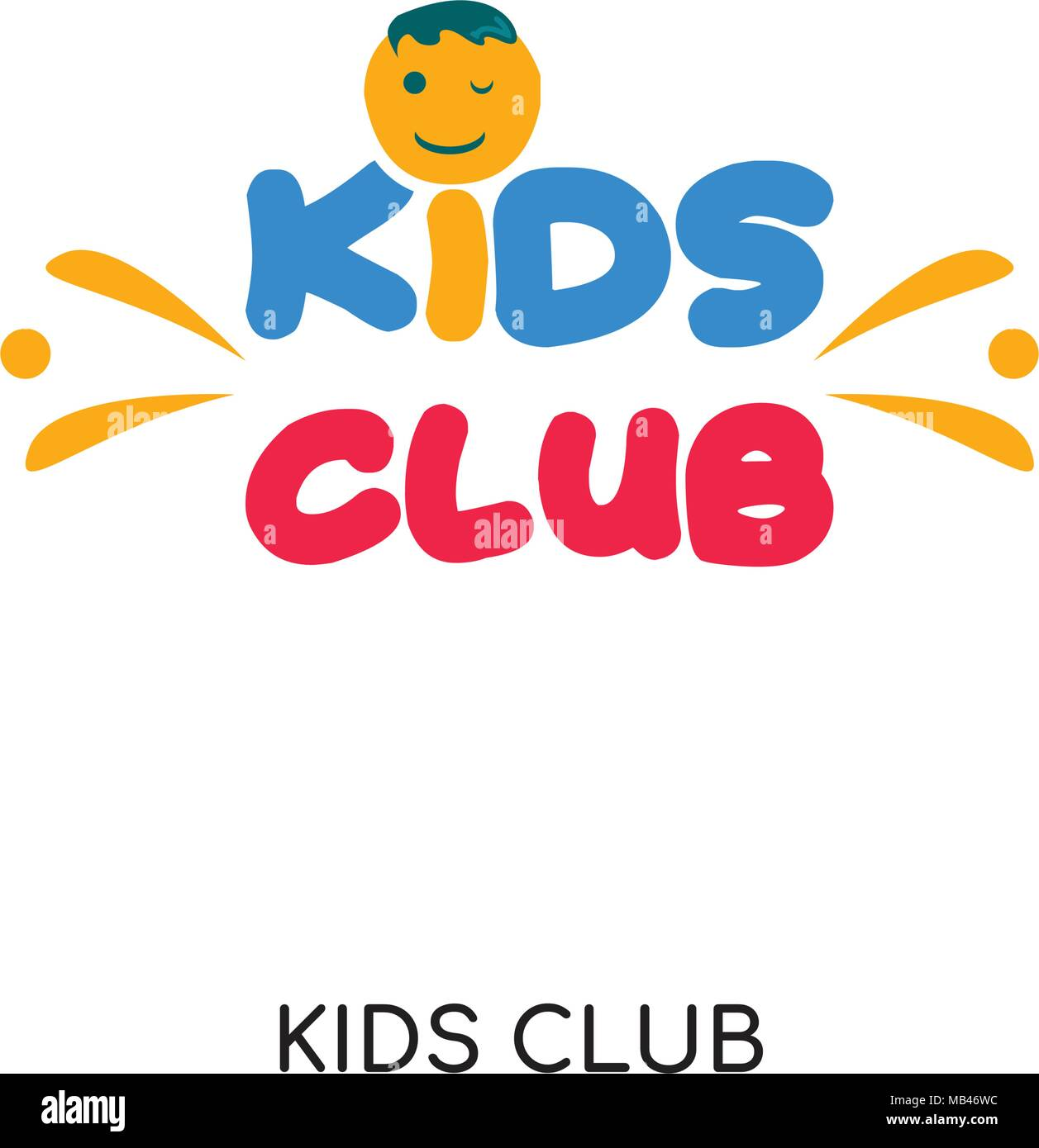 Kids Club Logo Isolated On White Background For Your Web Mobile