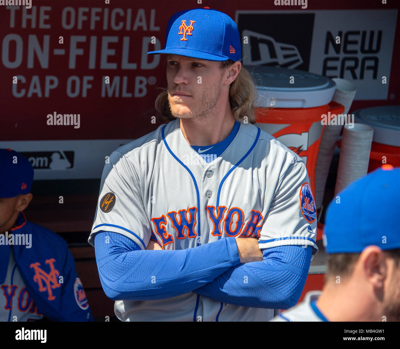 uk availability 428be 1a892 New York Mets starting pitcher Noah Syndergaard (34) stands ...