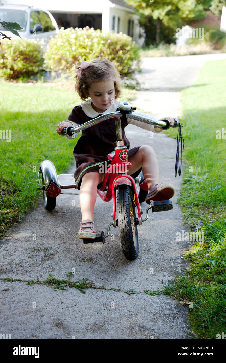 Can young girl rides toy that interfere