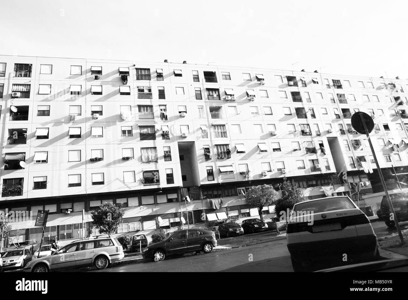 Torbellamonaca housing project buildings, Rome, Italy Stock Photo