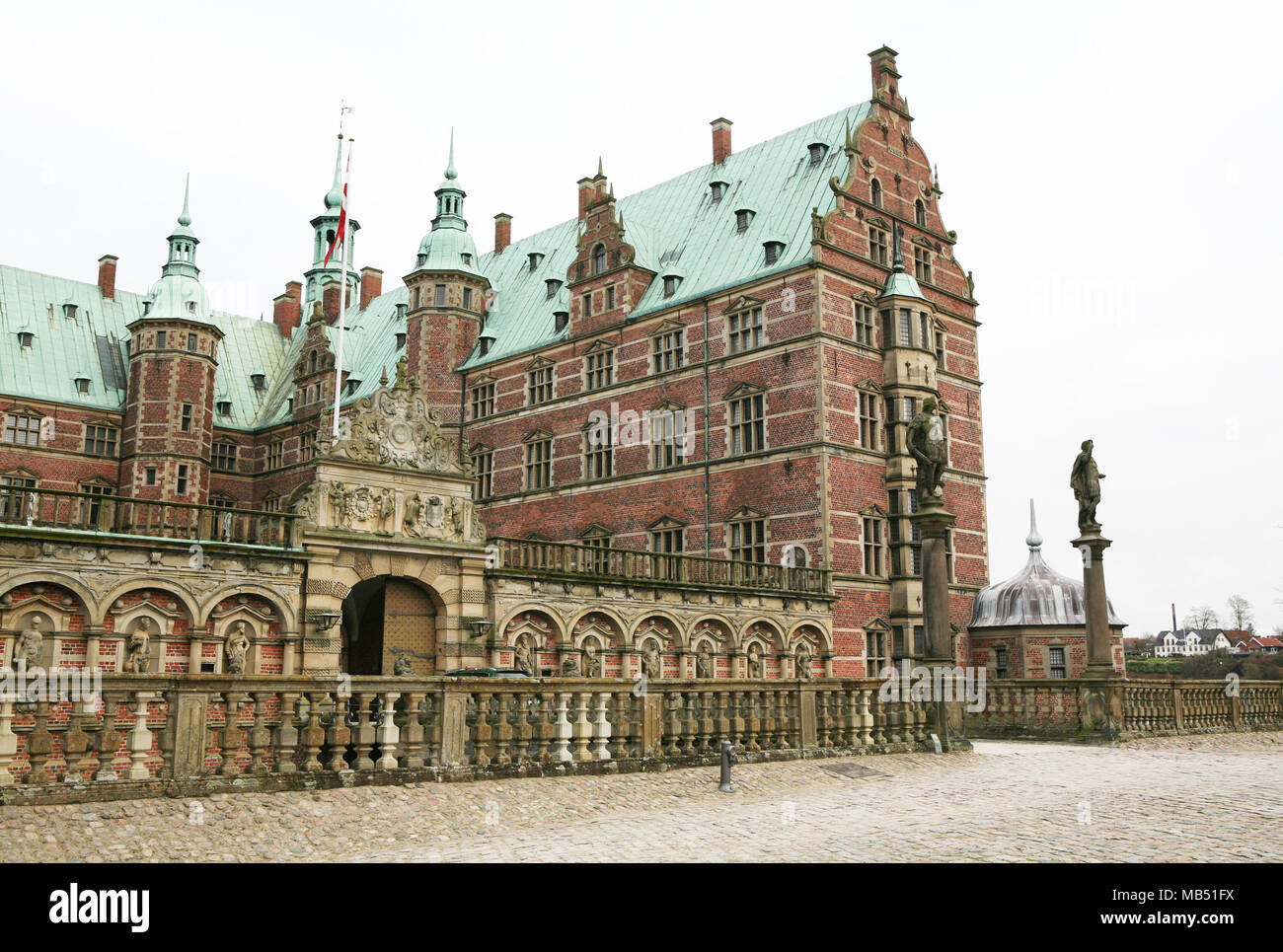 Building at the Hillerod castle, Denmark - Stock Image
