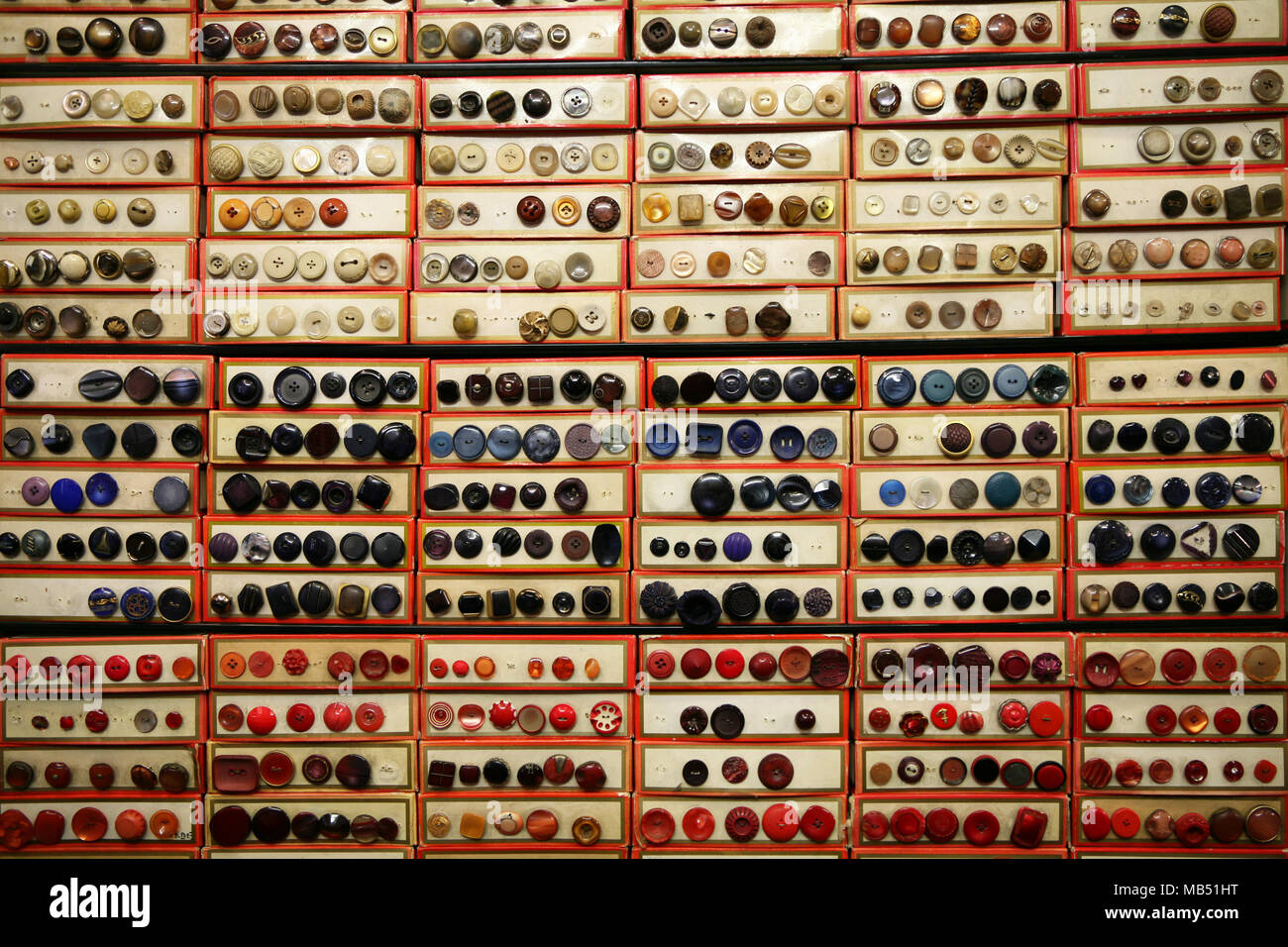 Buttons archive - Stock Image
